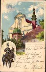 Litho Panschwitz Kuckau, Kloster St. Marienstern, Wend. Osterreiter, Max Näther