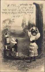 Buchstaben Ak J, Frauen mit Tamburin, Kinder, NPG 195