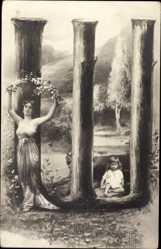 Buchstaben Ak Ш, Sch, Kyrillisch, Russisch, Frau mit Kind