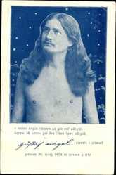 Postcard Wanderprediger Gustaf Nagel, 1874 bis 1952, Portrait
