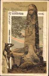 Künstler Ak Turngau Südösterreich, Gedenkfeier 1902, Jahndenkmal, Turner