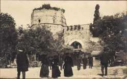 Ak Konstantinopel Istanbul Türkei, Les 7 Tours, Yedicoule, Besucher