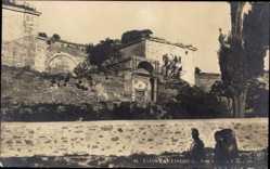 Ak Konstantinopel Istanbul Türkei, Porte doree aux 7 tours, Tor