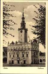 Ak Chełmno Kulm Weichsel Westpreußen, Ansicht vom Rathaus, Ratusz