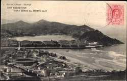Postcard San Sebastian Baskenland, Vista desde el Monte Ulia