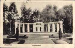 Postcard Głuchołazy Bad Ziegenhals Schlesien, Kriegerdenkmal