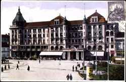 Postcard Debrecen Debrezin Ungarn, Arany Bika szallo, Hotel