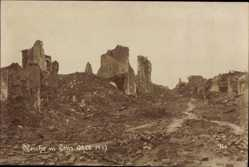 Foto Ak Lens Wallonien Hennegau, Zerstörte Kirche, Oktober 1917