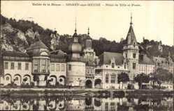 Postcard Dinant sur Meuse Wallonien Namur, Hôtel de Ville et Poste