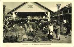 Postcard Cholon Vietnam, Les bords du marché aux poissons, Fischmarkt