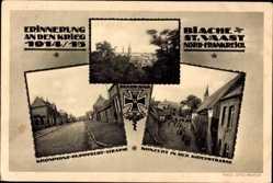 Postcard Biache St. Vaast Pas de Calais, Kronprinz Rupprecht Straße, Kirchstraße