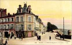 Ak Blois Loir et Cher, L'Hotel d'Angleterre et la Loire, Straßenpartie