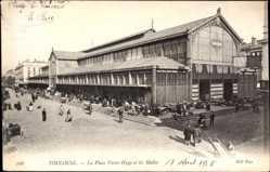 Ak Toulouse Haute Garonne, La Place Victor Hugo et les Halles, Markthalle
