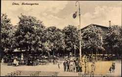Postcard Liepaja Libau Lettland, Partie im Kurhausgarten, Kinder, Gebäude