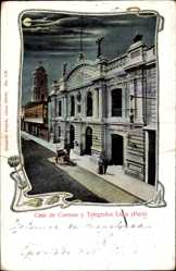 Passepartout Ak Lima Peru, Casa de Correos y Telegrafos