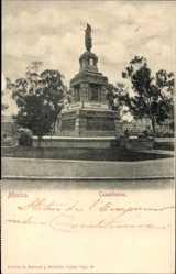 Postcard Mexiko Stadt, Cuauhtemoc, Maya Gottheit, Denkmal, Statue