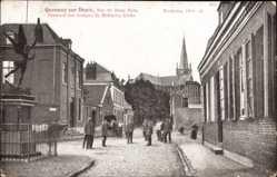 Postcard Quesnoy sur Deule Nord, Rue du Beau Rang, Denkmal des hl. St. Michael
