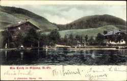 Postcard Aspang Markt Niederösterreich, Partie am Markt, Wasserpartie