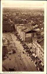 Postcard Kraków Krakau Polen, Rynek gl. Linja A B, Straßenpartie, Passanten