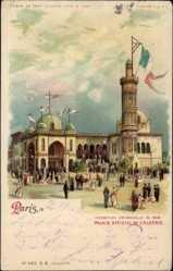 Haltgegendaslicht Litho Paris, Exposition Universelle 1900,Palais de l'Algerie