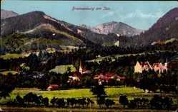 Postcard Brannenburg am Inn Oberbayern, Gesamtansicht der Ortschaft