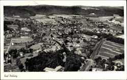 Postcard Bad Driburg im Kreis Höxter, Fliegeraufnahme von der Stadt