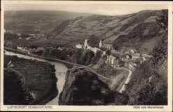 Postcard Heimbach in der Eifel, Blick vom Marienfelsen auf den Ort