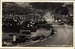 Postcard Niederlahnstein Lahnstein im Rhein Lahn Kreis, Stadt, Fliegeraufnahme