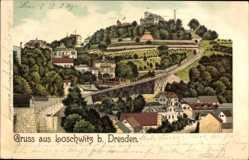 Litho Dresden Nordost Loschwitz, Bahnstrecke, Stadtteil