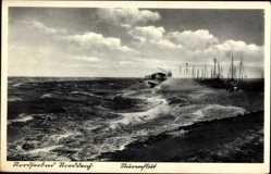 Postcard Norddeich Norden Ostfriesland, Nordseebad, Sturmflut