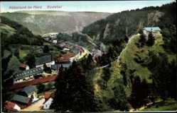 Postcard Rübeland Oberharz am Brocken, Blick in das Bodetal