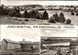 Postcard Joachimsthal Kreis Eberswalde Finow, Blick auf den Ort, See, Gebäude