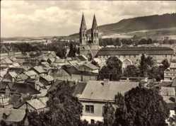 Postcard Heilbad Heiligenstadt in Thüringen, Blick auf den Ort, Kirchturm, Berg
