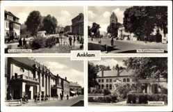 Postcard Anklam in Mecklenburg Vorpommern, Rudolf Breitscheid Platz, Stalinstr,Theater