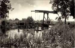 Postcard Demmin in Vorpommern, Brücke nach Haus Demmin, Fluss, Klappbrücke