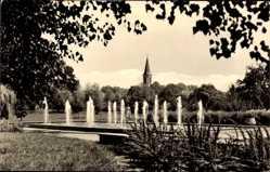 Postcard Zossen im Kreis Teltow Fläming, Stadtpark mit Blick auf die Kirche