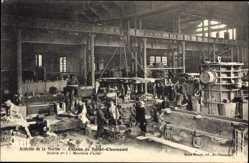 Ak Saint Chamond Loire, Usines, Aciéries de la Marine, Moulerie d'acier