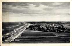 Postcard Niechorze Horst Pommern, Ostseebad, Panorama, Felder, Küste