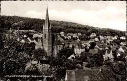 Postcard Wilsenroth Dornburg Hessen, Blick vom Ehrenmal, Kirche