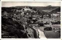 Postcard Kronach im Frankenwald Bayern, Blick in das Haslachtal, Brücke, Burg