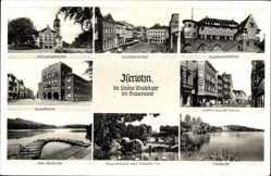 Postcard Iserlohn Märkischer Kreis, Alexanderhöhe, Sparkasse, Wermingerstraße