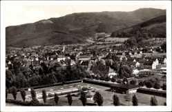 Postcard Waldkirch Baden Württemberg, Elztal, Vogelschau, Freibad