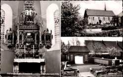Postcard Hohenkirchen Wangerland Friesland, Münstermann Altar, Kirche, Ehrenmal