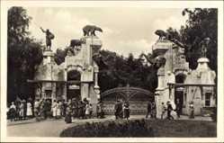 Postcard Hamburg Eimsbüttel Stellingen, Carl Hagenbeck's Tierpark, Haupteingang