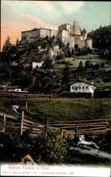 Postcard Taufers Tirol, Blick auf die alte Burg, Umgebung