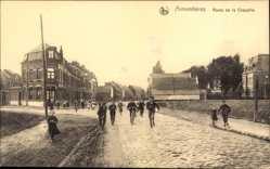 Postcard Armentières Nord, Route de la Chapelle, Straßenpartie, Kinder