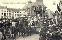 Postcard Mechelen Malines Flandern Antwerpen, Cavalcade, Praalwagen, Straßenumzug