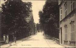 Postcard ArlonArel Wallonien Luxemburg, Rue de la Station, Bahnhofstraße