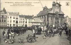 Postcard Mechelen Malines Flandern Antwerpen, Praaltrein, Cavalcade, Straßenfest