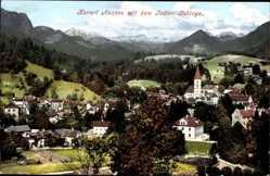 Ak Bad Aussee Steiermark Österreich, Panorama mit dem Todten Gebirge